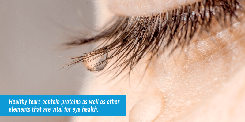 Combatting Sjogren's Syndrome - Healthy tears contain proteins as well as other elements that are vital for eye health.